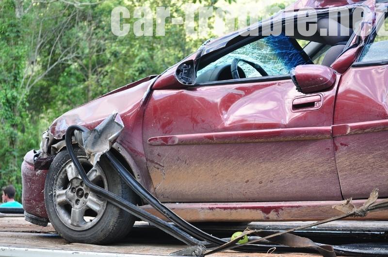 事故後の車の流れ