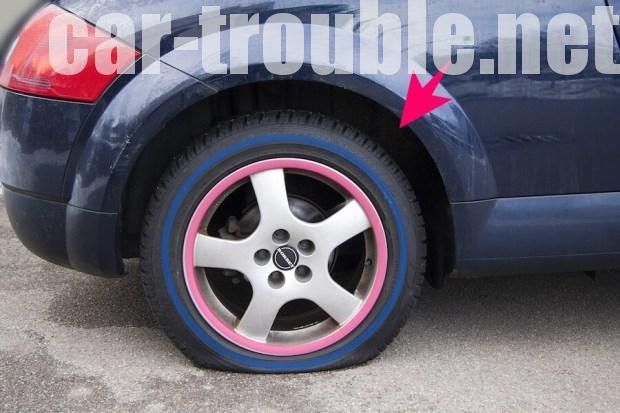 タイヤが使用不能になってしまう